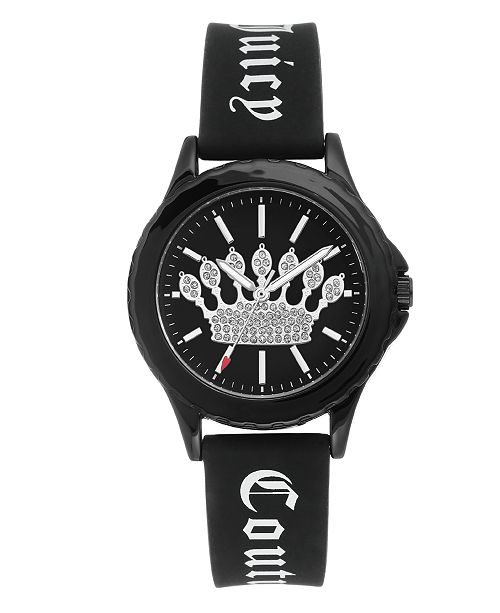 Juicy Couture Woman's 1001BKBK Silicon Strap Watch