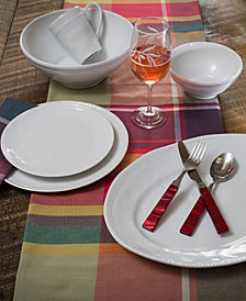 EuroCeramica Algarve White Dinnerware Collection
