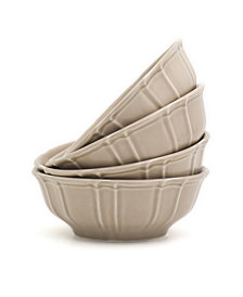 Euro Ceramica Chloe 4 Piece Taupe Cereal Bowl Set