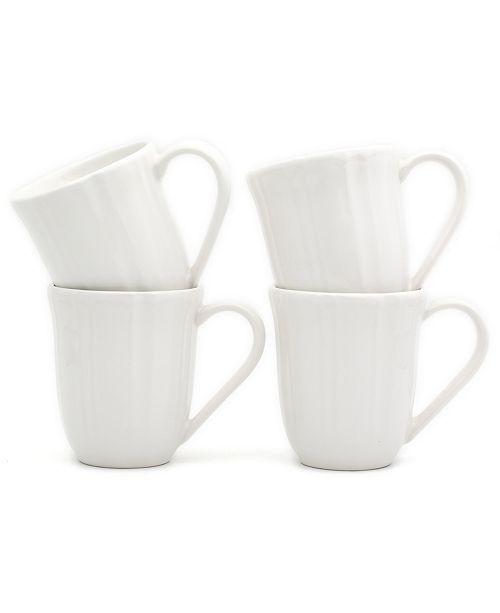 Euro Ceramica Chloe 4 Piece White Mug Set