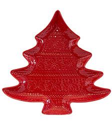 EuroCeramica Natal Tree Platter