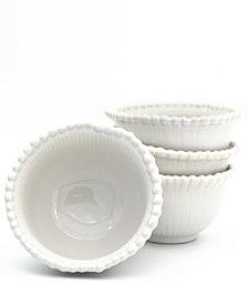 Euro Ceramica Sarar 4 Piece White Cereal Bowl Set