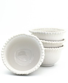 EuroCeramica Sarar 4 Piece White Cereal Bowl Set