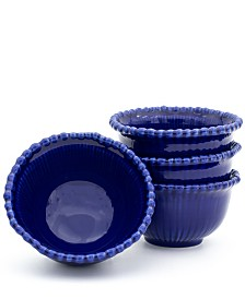 Euro Ceramica Sarar 4 Piece Cobalt Cereal Bowl Set