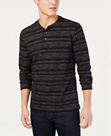 Kenneth Cole New York Men's Striped Henley