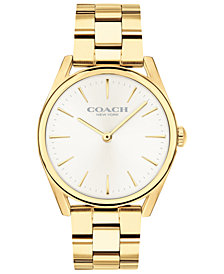 COACH Women's Preston Gold-Tone Stainless Steel Bracelet Watch 34mm