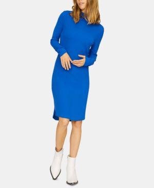SANCTUARY Essentials Rib Shift Dress in Electric Blue
