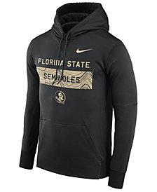 Nike Men's Florida State Seminoles Staff Pullover Hooded Sweatshirt