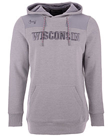 Under Armour Men's Wisconsin Badgers Threadborne Fleece Hoodie