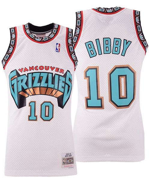 2e91bc1d2 ... Mitchell   Ness Men s Mike Bibby Vancouver Grizzlies Hardwood Classic  Swingman ...