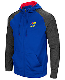 Colosseum Men's Kansas Jayhawks Magic Rays Full-Zip Hooded Sweatshirt