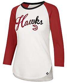 '47 Brand Women's Atlanta Hawks Splitter Ombre Raglan T-Shirt