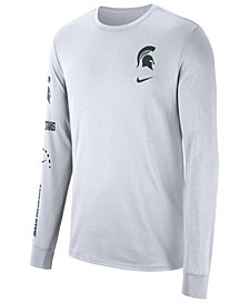 Men's Michigan State Spartans Long Sleeve Basketball T-Shirt