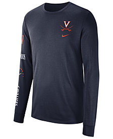Nike Men's Virginia Cavaliers Long Sleeve Basketball T-Shirt