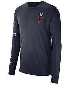 Nike Men's Virginia Cavaliers Long Sleeve Basketball T-Shirt