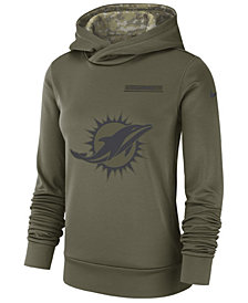 Nike Women's Miami Dolphins Salute To Service Therma Hoodie
