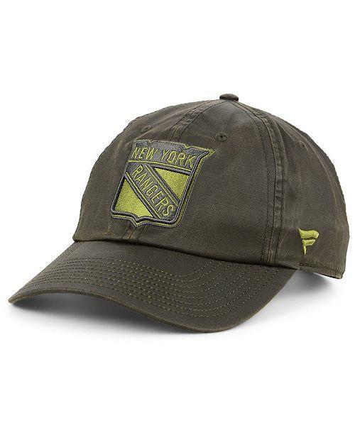 Authentic NHL Headwear New York Rangers Fundamental Waxed Adjustable Cap
