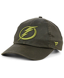 Authentic NHL Headwear Tampa Bay Lightning Fundamental Waxed Adjustable Cap
