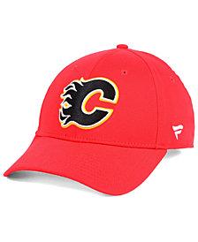 Authentic NHL Headwear Calgary Flames Fan Basic Adjustable Cap