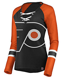 Majestic Women's Philadelphia Flyers Lace Up Long Sleeve T-Shirt
