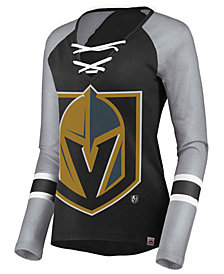 Majestic Women's Vegas Golden Knights Lace Up Long Sleeve T-Shirt