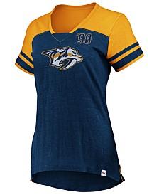 Majestic Women's Nashville Predators Hyper V Neck T-Shirt
