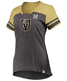 Majestic Women's Vegas Golden Knights Hyper V Neck T-Shirt
