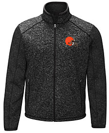G-III Sports Men's Cleveland Browns Alpine Zone Sweater Fleece Jacket