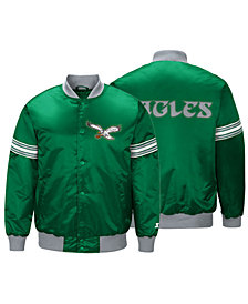 G-III Sports Men's Philadelphia Eagles Draft Pick Starter Satin Jacket