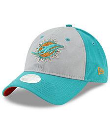 New Era Women's Miami Dolphins Gray Glitter 9TWENTY Cap