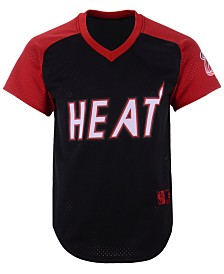 Mitchell & Ness Men's Miami Heat Final Seconds Mesh V-Neck Jersey