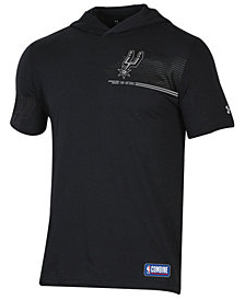 Under Armour Men's San Antonio Spurs Baseline Short Sleeve Hooded T-Shirt