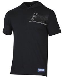Under Armour Men's San Antonio Spurs Baseline Short Sleeve Hooded T-Shirt