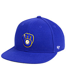 '47 Brand Boys' Milwaukee Brewers Basic Snapback Cap