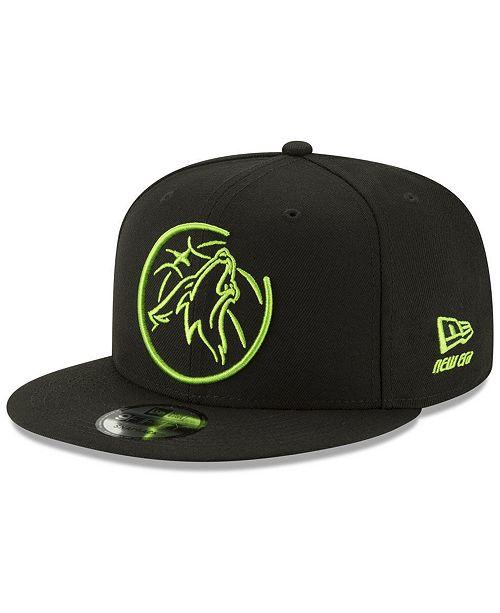 buy popular a6353 1d8b9 ... New Era Minnesota Timberwolves Logo Trace 9FIFTY Snapback Cap ...