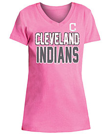 5th & Ocean Cleveland Indians Glitter Gel Team T-Shirt, Girls (4-16)