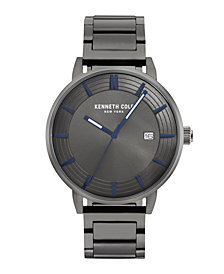 Kenneth Cole New York Men's Gun Metal Bracelet Watch 44mm