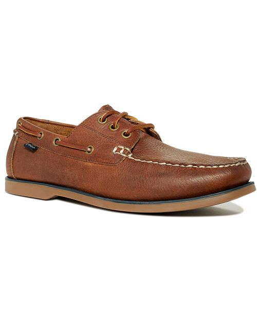 Ralph Lauren Bienne Tumbled Leather Boat Shoes Men's Shoes IuaCKHI