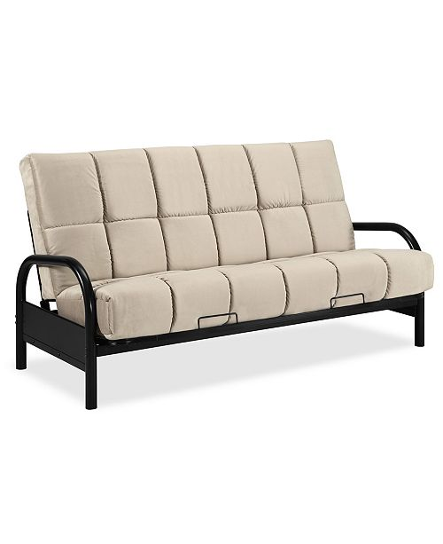 Dwell Home Inc Simmons Dallas Futon Frame With 8 Beautyrest Pannel Quilted Pocketed Coil Innerspring Mattress Macy S