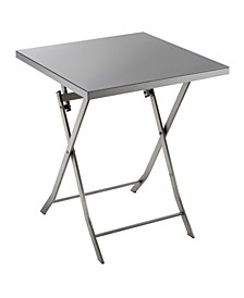 Mina Stainless Steel Folding Table