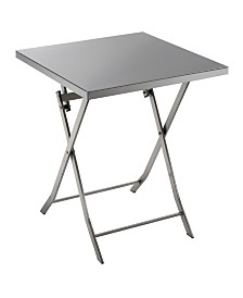 Mina Industrial Stainless Steel Folding Table (Set of 2)