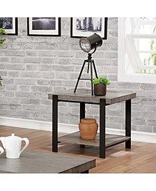 Budsing Two-Tone Open Shelf End Table