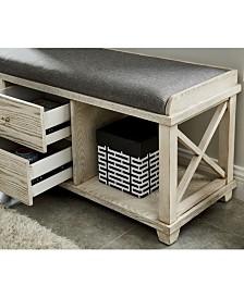 Karthie Two-Drawer Shoe Bench