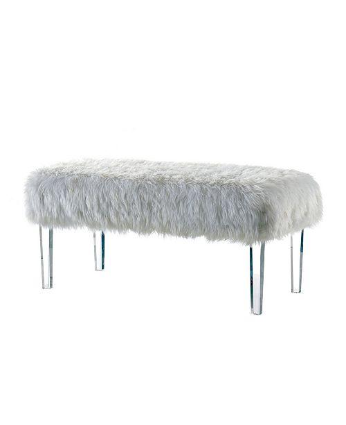Strange Raven Ii Faux Fur Acrylic Bench Uwap Interior Chair Design Uwaporg