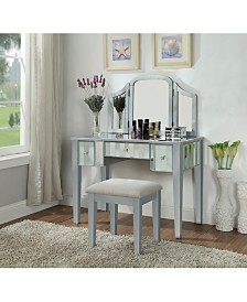 Boise Lift-Top Mirror Vanity Set