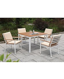 Tinna Two-Tone Square Outdoor Table