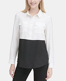 Calvin Klein Colorblocked Tunic Top