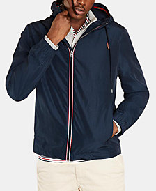 Brooks Brothers Men's Hooded Novelty Jacket