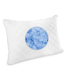 Quilted Gel-Infused Memory Foam Cluster Standard Pillow, Created for Macy's
