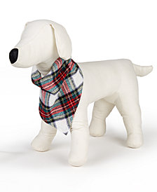 Matching Family Pajamas Plaid Pet Bandana, Created for Macy's